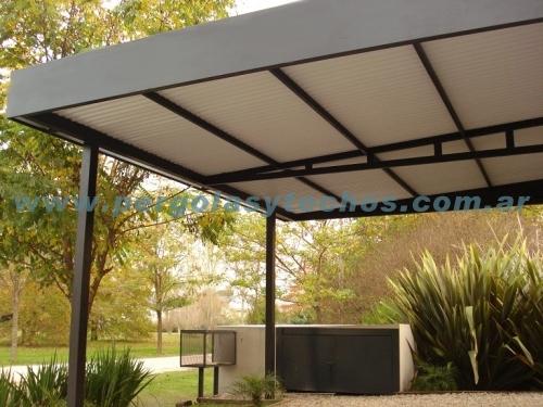 Techados para patios fotos de galerias y de aluminio y for Techados para coches