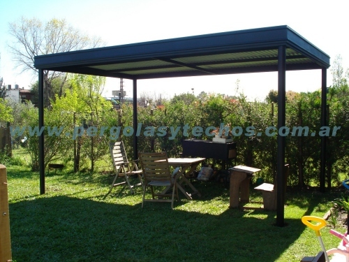pergolas de metal pergolas en hierro. Black Bedroom Furniture Sets. Home Design Ideas
