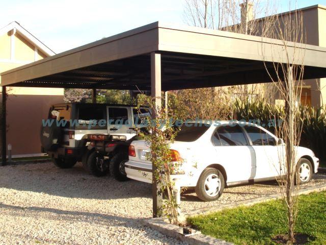 Techos para autos techos para cocheras for Tipos de toldos para patios