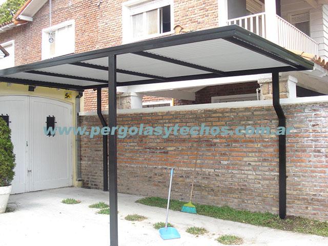 Techos entrada de autos techos para duplex for Plafones de techo y pared